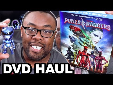 POWER RANGERS MOVIE DVD HAUL And BLU-RAY EXCLUSIVES [Black Nerd]