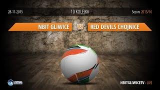 Nbit Gliwice - Red Devils FC Chojnice (10 kolejka) Futsal Ekstraklasa 2015/16 - LIVE