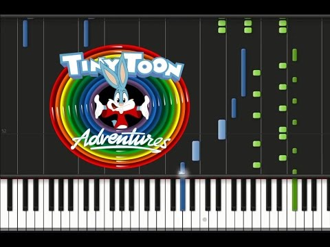 Tiny Toon Adventures - Theme Song [Synthesia Tutorial]