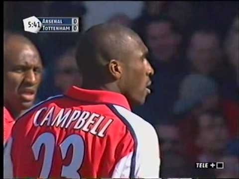 Arsenal 2-1 Tottenham PL 2001/02 FULL MATCH