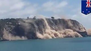 Video Tebing tenggelam ke laut karena gempa bumi yang melanda Selandia baru MP3, 3GP, MP4, WEBM, AVI, FLV Februari 2018