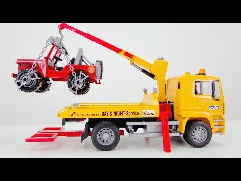 Машинки Игрушки, Игры для мальчиков: Эвакуатор и Красный ДЖИП! Видео для детей (видео)
