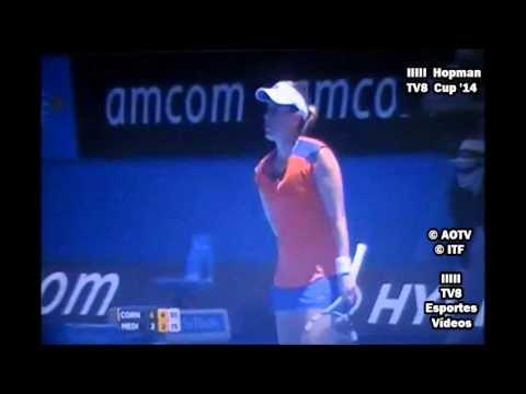 Alizé Cornet vs Anabel Medina Garrigues - Hopman Cup 2014 - Round Robin - Set 2