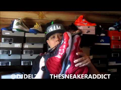 Nike Zoom Rookie & Foamposite One Varsity Red Sneaker Color Comparison W/ Dj Delz