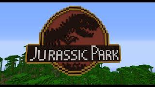Minecraft Timelapse Jurassic Park Logo