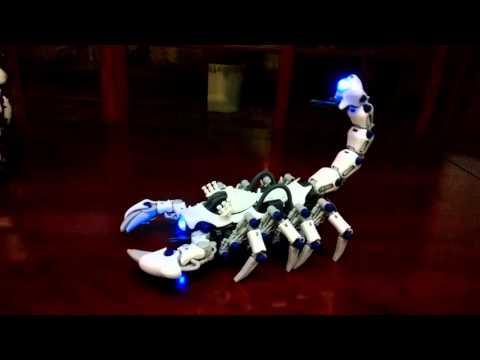 TOMY ZOIDS E24-01 DEATHPION 白蠍 デスピオン (加裝LED) (видео)