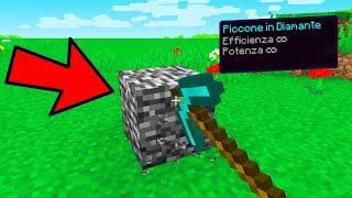 PUÒ IL PICCONE CON POTENZA INFINITA ROMPERE LA BEDROCK? - Minecraft ITA