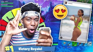 My MIDDLE SCHOOL CRUSH Picks my Weapons to Win Fortnite: Battle Royale! (Instagram Model)