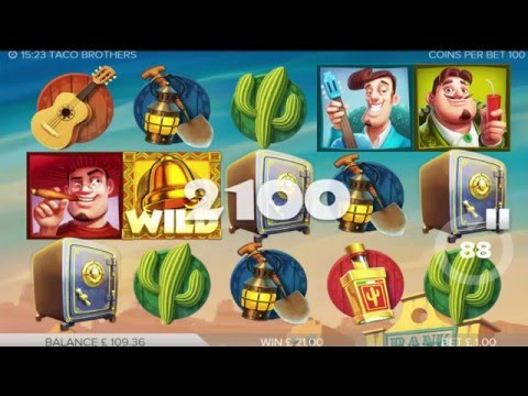 Elk Studios Taco Bros Slot - Free Spins Bonus Round Win