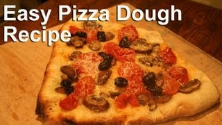 Easy Pizza Dough Recipe : GardenFork.TV - YouTube