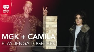 Camila Cabello Learns How to Play Jenga from Machine Gun Kelly