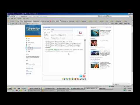 Genesys eServices Fanbook Page Integration Showing Chat, eMail, Knowledge Management