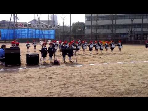 2014 大阪東成区出初式 熊野幼稚園児