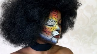 Cheetah Inspired FacePaint||MdeiziMakeup