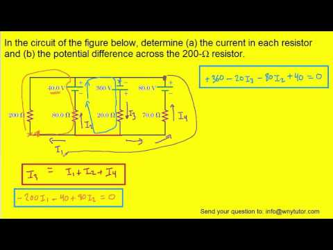 In the circuit of the figure below determine the current