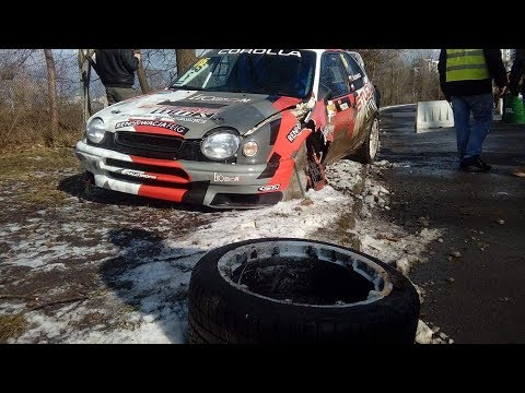 CRASH Toyota Corolla WRC | 2 BIZOL Królewski Winter Cup 2018