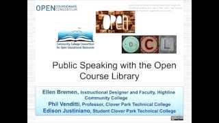 CCCOER May Webinar-Public speaking with the Open Course Library