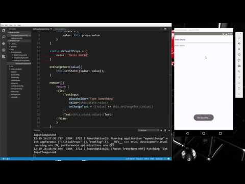Learn about Components and input controls in React Native - Part 3