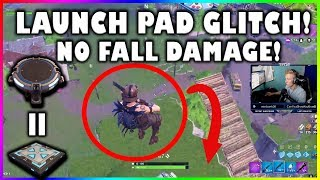 LAUNCH PAD BECOMES LIKE THE JUMP PAD GLITCH!!   Fortnite highlights #186