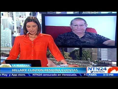 """Publicación de correos electrónicos de Hillary Clinton """"no va a parar"""": analista político en NTN24"""