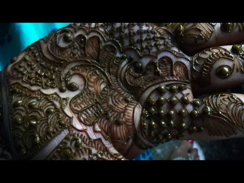 Indian Pakistani Hina Mehendi-New Easy Mehndi Tattoo Design For Fest 2013 (видео)