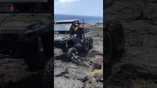 10. Polaris ranger 6x6 in Hawaii on the lava rocks.