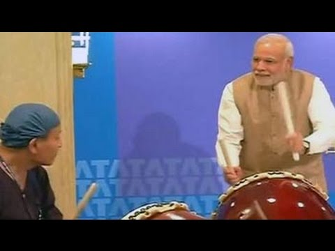 japanese - At an event launched by Tata Consultancy Services to launch its Technology and Cultural Academy in Japan, Narendra Modi impressed businessmen by playing Taiko drums alongside a professional...
