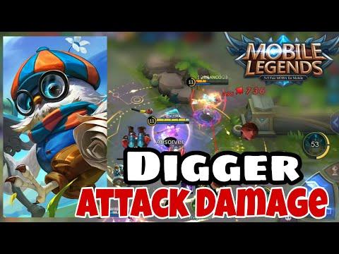 Tudocelular - DIGGER AD (ATTACK DAMAGE) - MOBILE LEGENDS