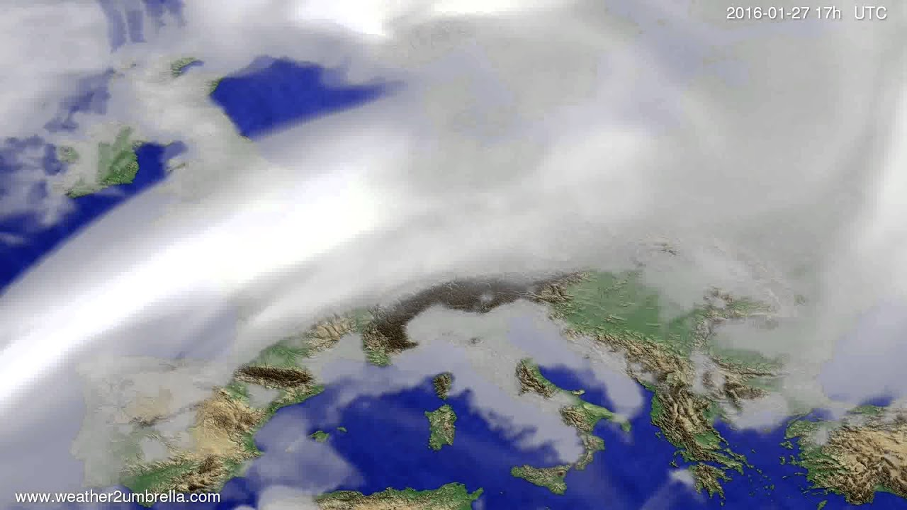 Cloud forecast Europe 2016-01-25