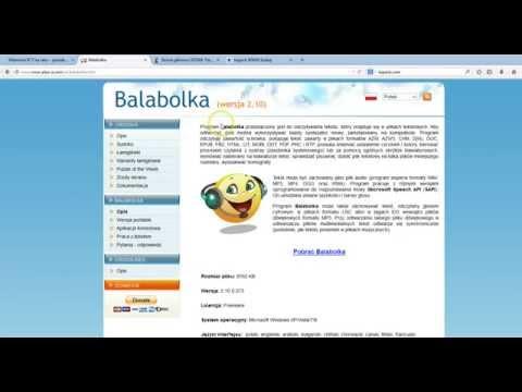 Balabolka - Darmowy syntezator mowy.