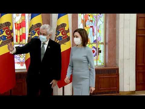 Președintele Republicii Moldova, Maia Sandu, a primit scrisorile de acreditare din partea a șapte ambasadori agreați