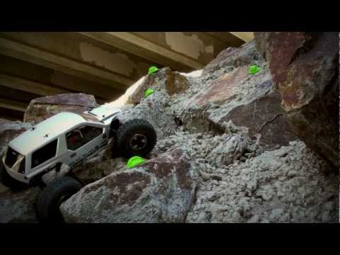 axialvideos - Video of our AX10 Ridgecrest Stage 2 crawler build from Axial's blog. Running stock ESC, motor and gearing, 5000mah 2S pack, minimal weight in the wheels wit...
