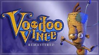 Jogo Voodoo Vince Remastered rodando no Xbox One com opção de Xbox Play Anywhere.