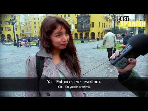 spanish - Beatriz asks people in Lima, Peru about the greatest achievement of their life! Easy Languages is a non-profit video project aiming at supporting people worl...