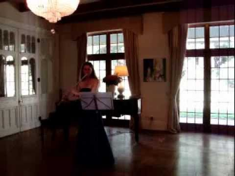 Karin Leitner plays Suite for Flute solo by Egon Wellesz