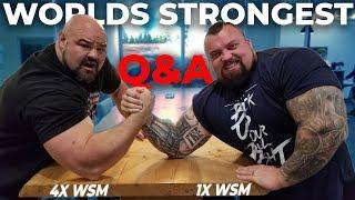 Q&A WITH EDDIE HALL | 500KG DEADLIFT | WORLDS STRONGEST ARM WRESTLE?!?!