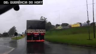 Nesse vídeo estou vindo de Querência do Norte/PR até Curitiba/PR, nele eu nomeei o nome de cada cidade que passamos e devido ao mau tempo ...