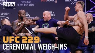 Video UFC 229: Khabib vs. McGregor Ceremonial Weigh-in Highlights - MMA Fighting MP3, 3GP, MP4, WEBM, AVI, FLV Februari 2019