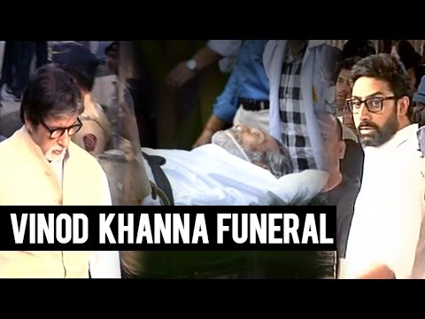 Vinod Khanna Funeral FULL VIDEO | Amitabh Bachchan