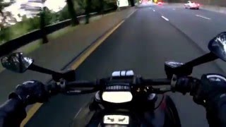 3. 2013 Ducati Diavel Dark NYC West Side Highway Ride with engine sound.