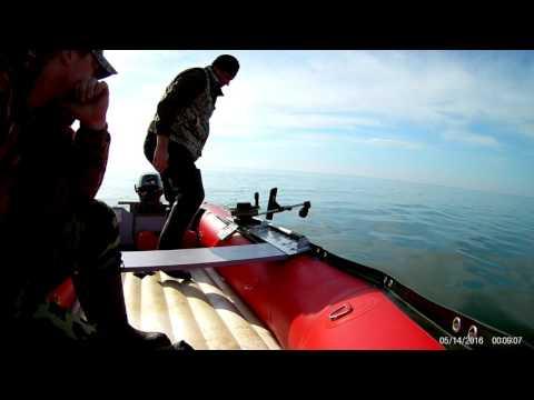 даунриггер на лодке пвх видео