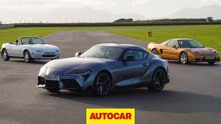 Toyota Supra meets Mazda MX-5, Honda NSX   Japanese sports car special   Autocar Heroes by Autocar