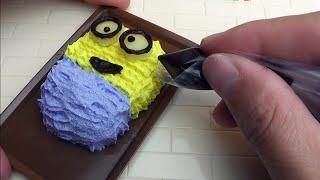 Minion Bob miniature cake Konapun tutorial