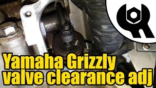 5. Yamaha Grizzly 450 - valve clearance adjustment #1806