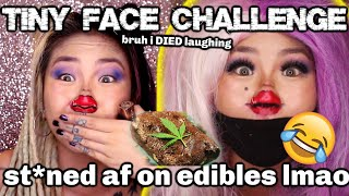 TINY FACE CHALLENGE ON EDIBLES (OMG) BAKED N CAKED | KIMMY TAN by Kimmy Tan