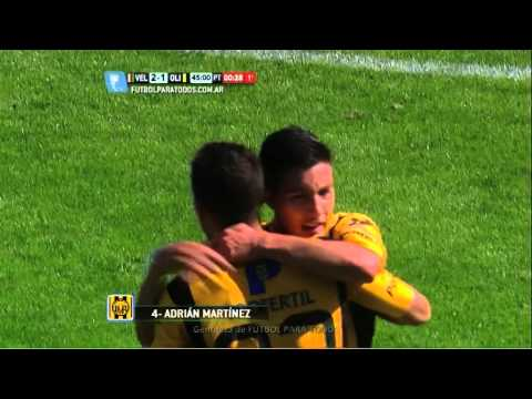 Gol de Martínez. Vélez 2 – Olimpo 1. Torneo Primera División 2014