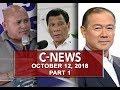 News (October 12, 2018) PART 1