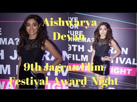Aishwarya Devan At The Red Corpet Of 9th Jagran Flim Festival Award Night