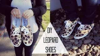 DIY Leopard Shoes! - YouTube