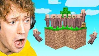 I Found A VILLAGER ISLAND In Sky Block! (Minecraft)